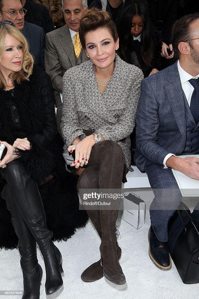 Chanel : Front Row - Paris Fashion Week - Haute Couture S/S 2015 : News Photo