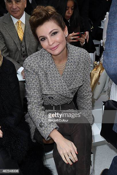 Lola Karimova attends the Chanel show as part of Paris Fashion Week Haute Couture Spring/Summer 2015 on January 27 2015 in Paris France