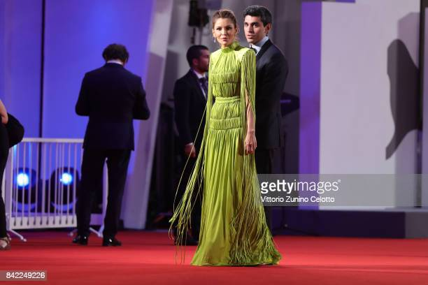 Lola KarimovaTillyaeva and and Timur Tillyaev walk the red carpet ahead of the 'The Leisure Seeker ' screening during the 74th Venice Film Festival...