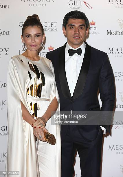 Lola KarimovaTillyaeva and her husband Timour Tilialiev attend The Global Gift Gala during The 69th Annual Cannes Film Festival on May 13 2016 in...