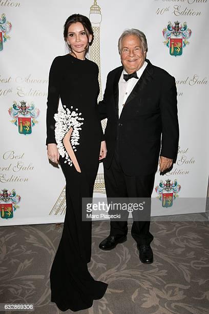 Lola KarimovaTillyaeva and Massimo Gargia attend 'The Best Award Gala 40th Edition' at Four Seasons George V hotel on January 27 2017 in Paris France