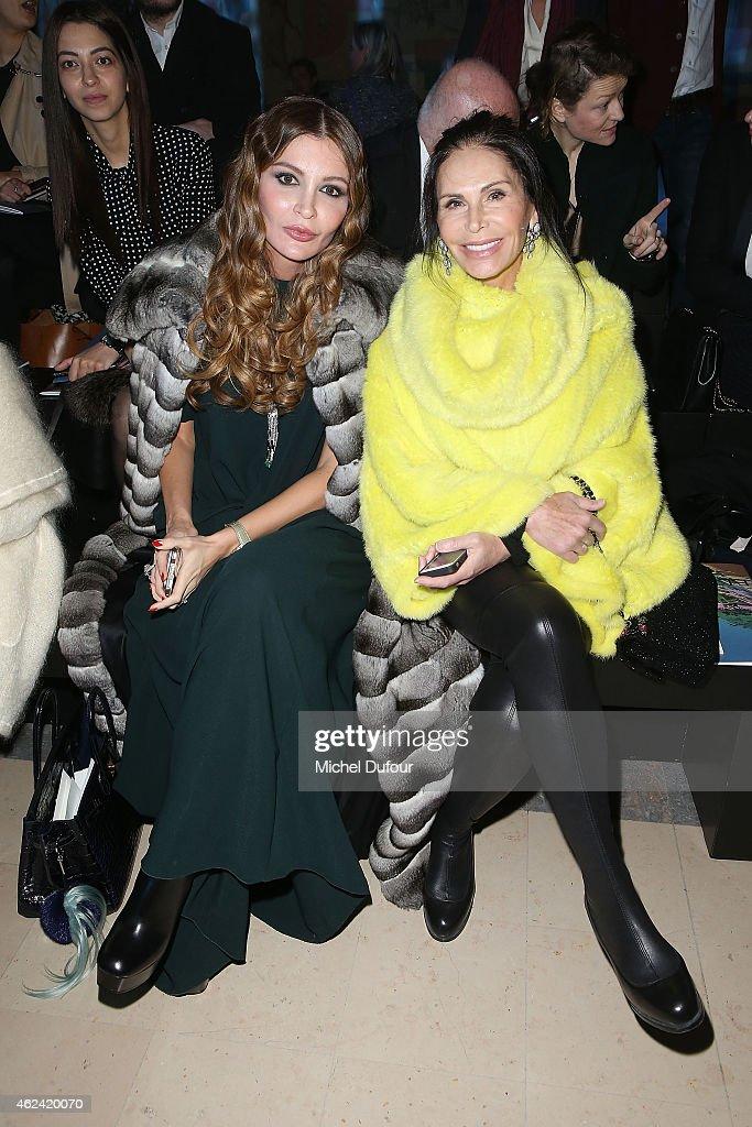 Elie Saab : Front Row - Paris Fashion Week - Haute Couture S/S 2015 : News Photo