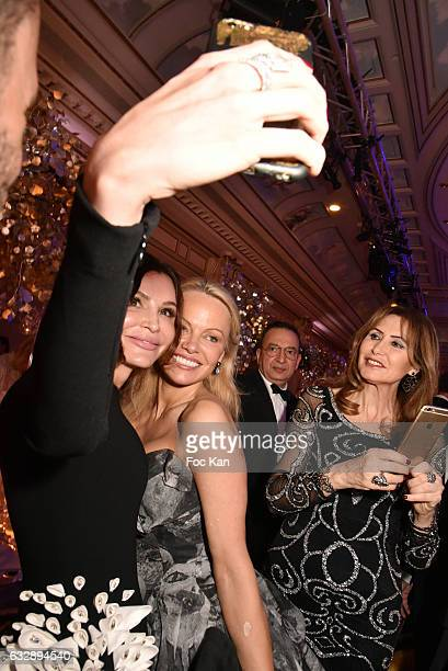 Lola KarimovaTillyaeva and Pamela Anderson attend 'The Best Award Gala 40th Edition' at Four Seasons George V Hotel on January 27 2017 in Paris France