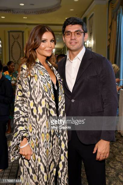 Lola KarimovaTillyaeva and Timur Tillyaev attend Fashion 4 Development's 9th Annual Official First Ladies Luncheon at The Pierre Hotel on September...