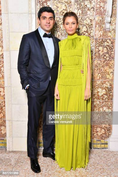 Lola KarimovaTillyaeva and Timur Tillyaev attend the Kineo Diamanti Awards dinner during the 74th Venice Film Festival at Grande Albergo Ausonia...