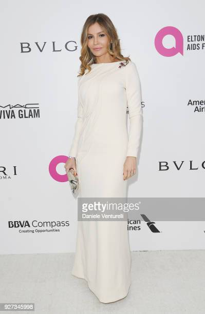 Lola KarimovaTillyaeva attends Elton John AIDS Foundation 26th Annual Academy Awards Viewing Party at The City of West Hollywood Park on March 4 2018...