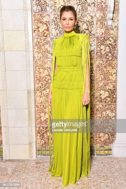 Lola KarimovaTillyaeva attends the Kineo Diamanti Awards dinner during the 74th Venice Film Festival at Grande Albergo Ausonia Hungaria on September...