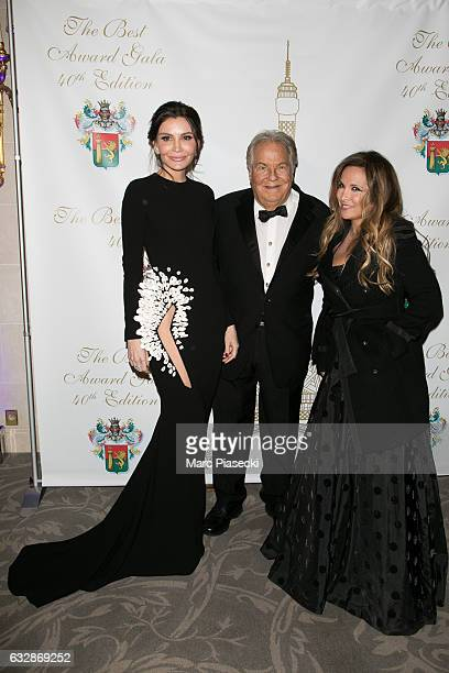 Lola KarimovaTillyaeva Massimo Gargia and singer Helene Segara attend 'The Best Award Gala 40th Edition' at Four Seasons George V hotel on January 27...
