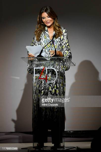 Lola KarimovaTillyaeva speaks onstage during Fashion 4 Development's 9th Annual Official First Ladies Luncheon at The Pierre Hotel on September 24...