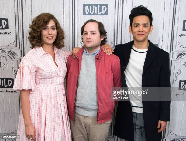 Lola Kirk Aaron Katz and John Cho visit Build Series to discuss 'Gemini' at Build Studio on March 27 2018 in New York City