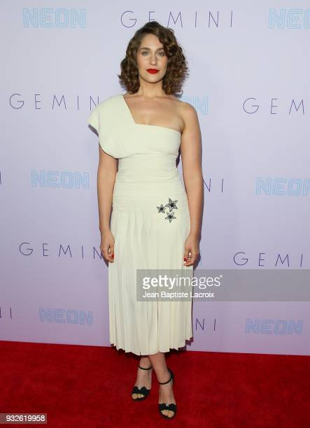 Lola Kirke attends the Neon Los Angeles premiere of 'Gemini' on March 15 2018 in Los Angeles California