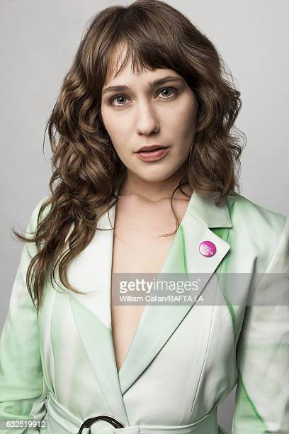 Lola Kirke poses for a portraits at the BAFTA Tea Party at Four Seasons Hotel Los Angeles at Beverly Hills on January 7 2017 in Los Angeles California