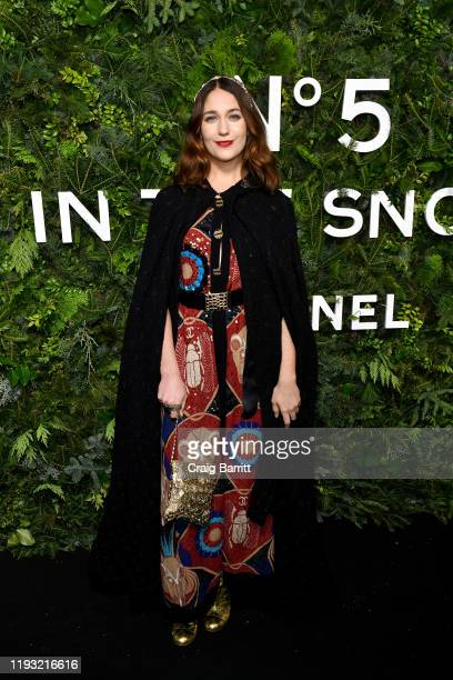 Lola Kirke wearing CHANEL attends the CHANEL party to celebrate the debut of CHANEL N5 In The Snow at The Standard High Line on December 10 2019 in...