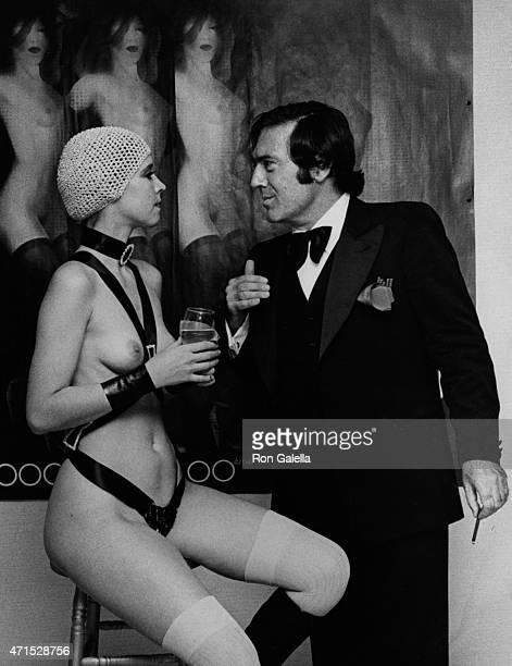 Lola Lane and Nicolas Simbari attend Nicola Simbari Opening on November 4 1976 at the Wally Finley Gallery in New York City