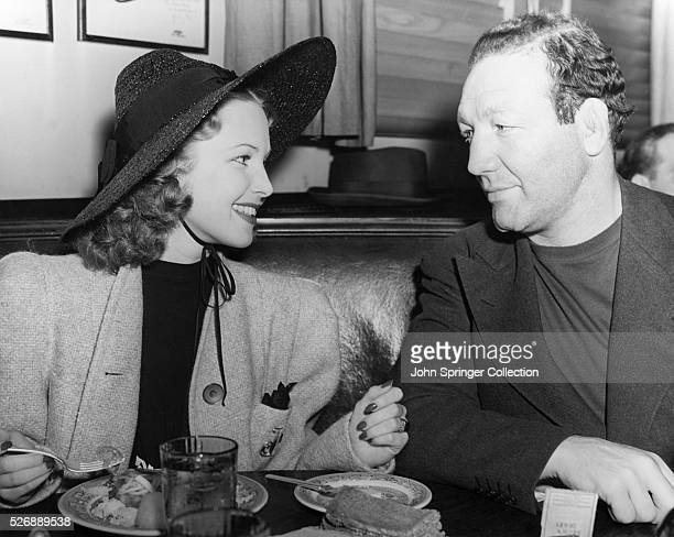 Lola Lane and Slapsie Maxie Rosenbloom dine at the famous Hollywood Brown Derby restaurant