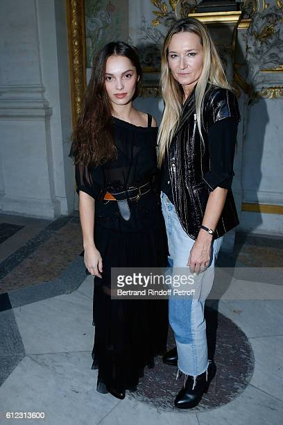 Lola Le Lann and Stylist Julie de Libran pose after the Sonia Rykiel show as part of the Paris Fashion Week Womenswear Spring/Summer 2017 on October...