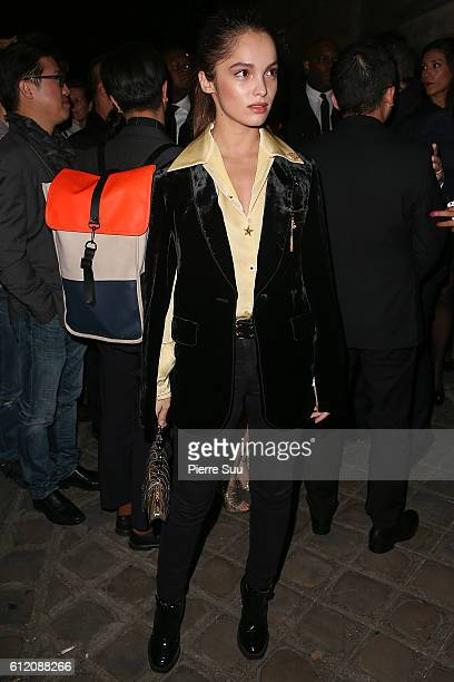 Lola Le Lann arrives at the Gold Obsession Party L'Oreal Paris as part of the Paris Fashion Week Womenswear Spring/Summer 2017 on October 2 2016 in...