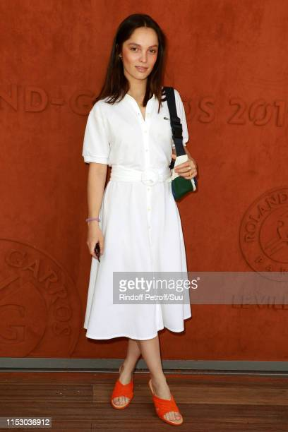 Lola Le Lann attends the 2019 French Tennis Open Day Seven at Roland Garros on June 01 2019 in Paris France