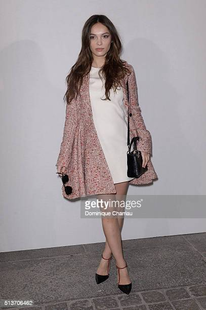 Lola Le Lann attends the Christian Dior show as part of the Paris Fashion Week Womenswear Fall/Winter 2016/2017 on March 4, 2016 in Paris, France.