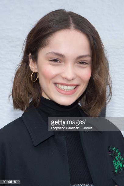 Lola Le Lann attends the Christian Dior show as part of the Paris Fashion Week Womenswear Fall/Winter 2018/2019 on February 27 2018 in Paris France