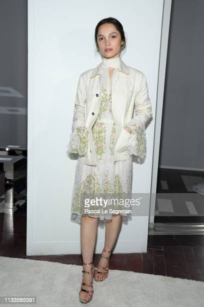 Lola Le Lann attends the Giambattista Valli show as part of the Paris Fashion Week Womenswear Fall/Winter 2019/2020 on March 04, 2019 in Paris,...