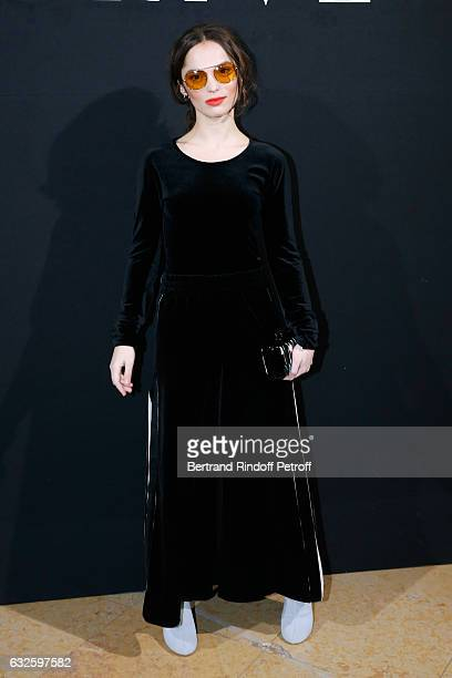 Lola Le Lann attends the Giorgio Armani Prive Haute Couture Spring Summer 2017 show as part of Paris Fashion Week on January 24, 2017 in Paris,...
