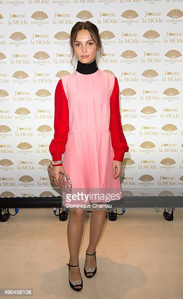 Lola Le Lann attends the J'aime La Mode Mandarin Oriental Photocall at Hotel Mandarin Oriental on September 28 2015 in Paris France