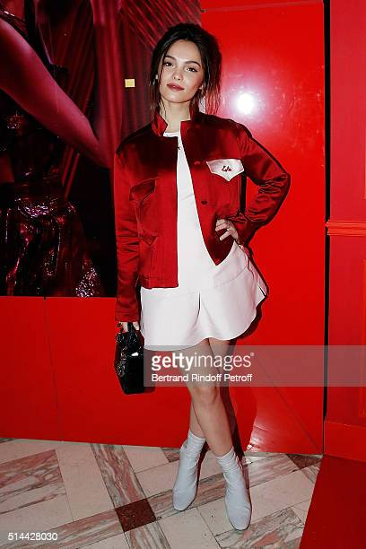 Lola Le Lann attends the L'Oreal Red Obsession Party as part of the Paris Fashion Week Womenswear Fall/Winter 2016/2017 on March 8 2016 in Paris...