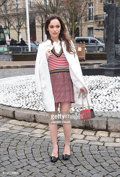 Lola Le Lann attends the Miu Miu show as part of the Paris Fashion Week Womenswear Fall Winter 2016/2017 on March 9 2016 in Paris France