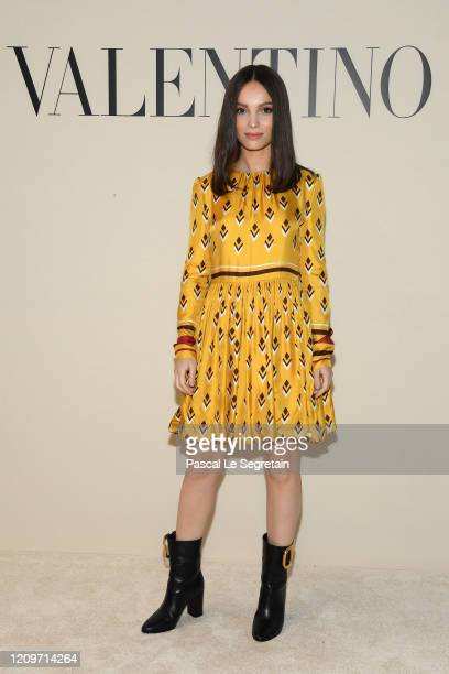 Lola Le Lann attends the Valentino show as part of the Paris Fashion Week Womenswear Fall/Winter 2020/2021 on March 01, 2020 in Paris, France.