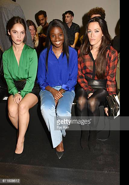 Lola Le Lann, Karidja Toure and Mai Lan attend the Barbara Bui show as part of the Paris Fashion Week Womenswear Spring/Summer 2017 on September 29,...