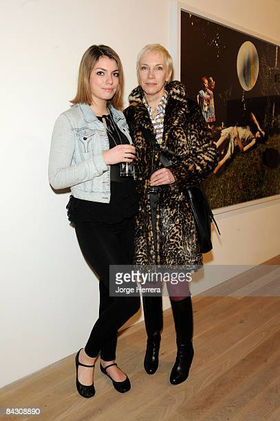 Lola Lennox and Annie Lennox attend the Tierney Gearon reception at Phillips de Pury on January 14 2009 in London England