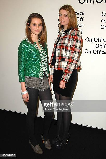 Lola Lennox and Tali Lennox attend the On|Off London Fashion Week a/w 2009 Front Row on February 23 2009 in London England