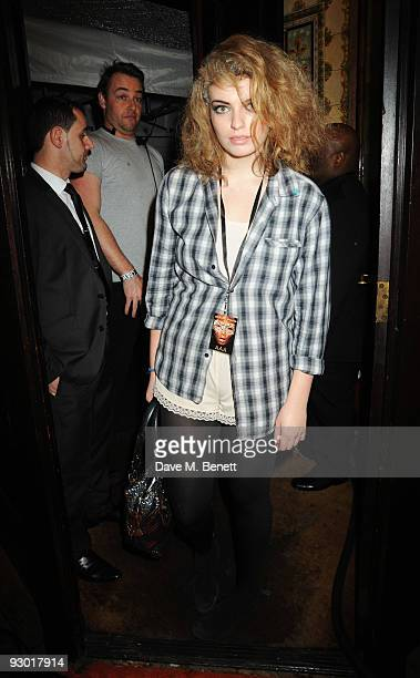 Lola Lennox attends the 40th anniversary party of Butler Wilson at KOKO on November 12 2009 in London England