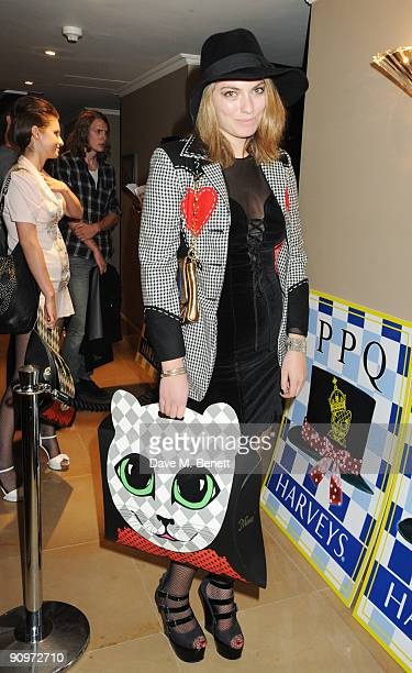 Lola Lennox attends the afterparty following the PPQ Spring/Summer 2010 London Fashion Week show at the Mayfair Hotel on September 19 2009 in London...