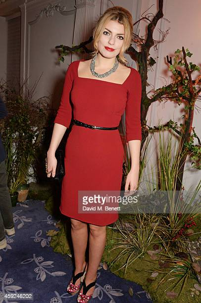 Lola Lennox attends the Claridge's Dolce and Gabbana Christmas Tree party at Claridge's Hotel on November 19 2014 in London England