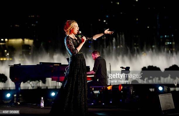 Lola Lennox performs on stage at the Gala Event during the Vogue Fashion Dubai Experience on October 31 2014 in Dubai United Arab Emirates