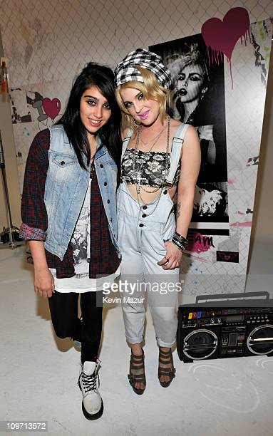 Lola Leon and Kelly Osbourne behind the scenes at the 'Material Girl' photo shoot on January 19 2011 in New York City 'Material Girl' is available at...