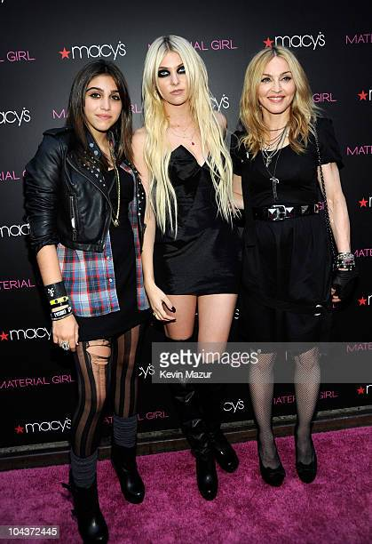 Lola Leon Taylor Momsen and Madonna attends the launch of Material Girl at Macy's Herald Square on September 22 2010 in New York City