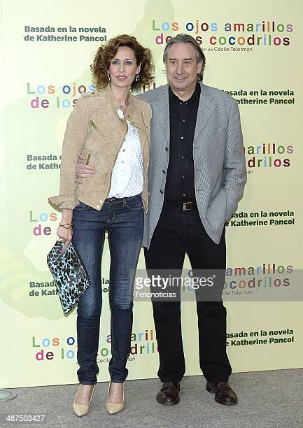 Lola Marceli and Juanjo Puigcorbe attend the 'Los Ojos Amarillos de los Cocodrilos' premiere the Academia del Cine on April 30 2014 in Madrid Spain