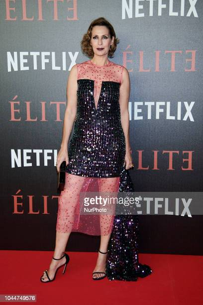 Lola Marceli attend the 'Elite' premiere photocall at 'Reina Sofia Museum' in Madrid on October 2 2018