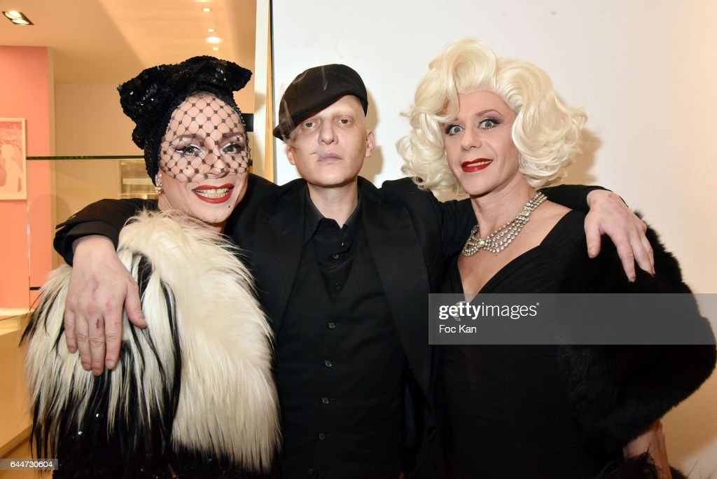 Lola Mercier, Ali Mahdavi and Olympia Solange attend 'Facade16' Magazine Issue Launch at Colette on February 23, 2017 in Paris, France.