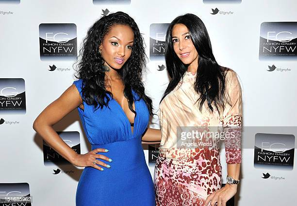 Lola Monroe and Carla Facciola attend the Anna Francesca Spring 2013 fashion show during MercedesBenz Fashion Week at Helen Mills Event Space on...