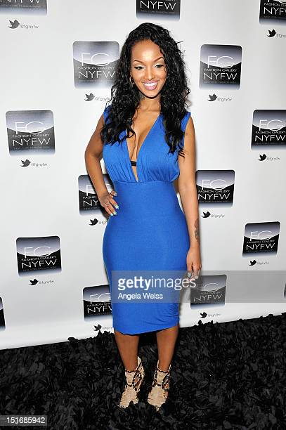 Lola Monroe attends the Anna Francesca Spring 2013 fashion show during MercedesBenz Fashion Week at Helen Mills Event Space on September 9 2012 in...