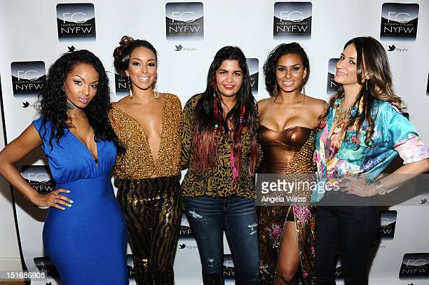 Lola Monroe Gloria Gavin Anna Francesca Laura Gavin and Arzo Anwar attend the Anna Francesca Spring 2013 fashion show during MercedesBenz Fashion...