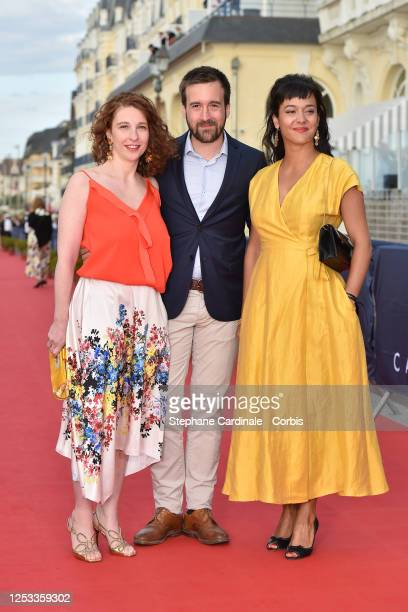 Lola Naymark Grégoire LeprinceRinguet and Pauline Caupenne attend the Closing Ceremony of the 34th Cabourg Film Festival on June 29 2020 in Cabourg...