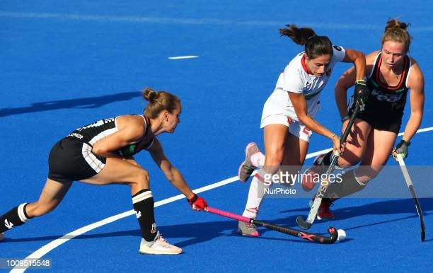 Lola of Spain during FIH Hockey Women's World Cup 2018 Day 11 match Quarter Final game 29 between Germany and Spain at Lee Valley Hockey amp Tennis...