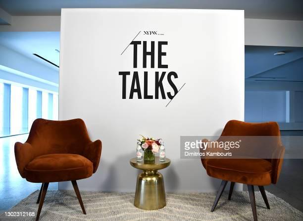 Lola Ogunnaike and Nikki Ogunnaike speak at NYFW The Talks during New York Fashion Week: The Shows February 2021 at Spring Studios on February 15,...
