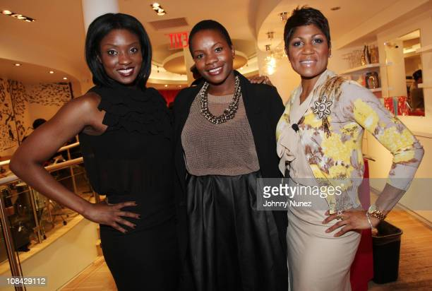 Lola Ogunnaike, Carline Balan and Jocelyn R. Taylor attend Shop for a Cause at the Tracy Reese Boutique on January 26, 2011 in New York City.