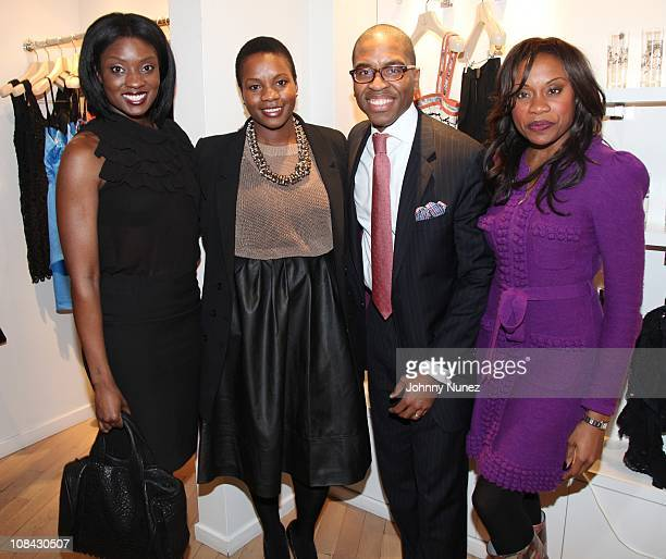 Lola Ogunnaike Carline Balan Reggie Canal and Midwin Charles attend Shop for a Cause at the Tracy Reese Boutique on January 26 2011 in New York City